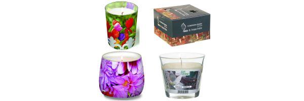 Teelichte - Kerzen im Glas