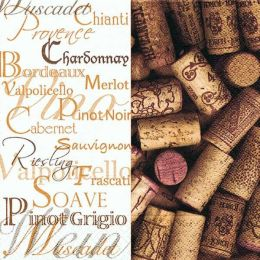 P+ D Serviette, Wine tasting, 3 lagig, 25x25cm, 1/4 Falz, 20 Stück