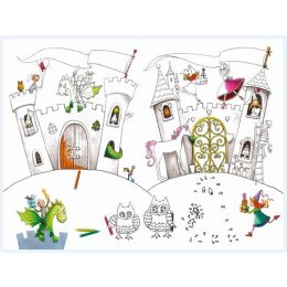 Tischset Princess and knights castle 3 lagig 40x30cm, 12 Stück