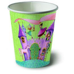Pappbecher, Princess castle, 200ml, 10 Stück