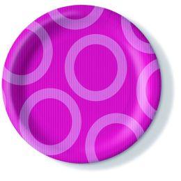 Pappteller, Circle pink, 23cm, 350g/qm, 10 Stück