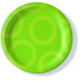 Pappteller, Circle kiwi, 23cm, 350g/qm, 10 Stück