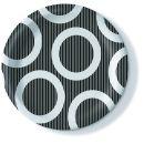 Pappteller, Circle black, 23cm, 350g/qm, 10 Stück