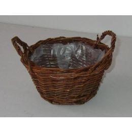 Rohweidenschale, rund, mit PVC einsatz, 15x8cm, 1 Stück