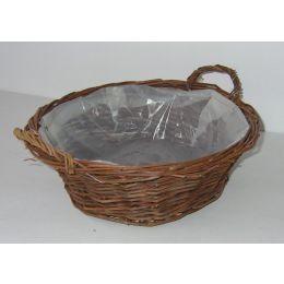Rohweidenschale, rund, mit PVC einsatz, 35x12cm, 1 Stück