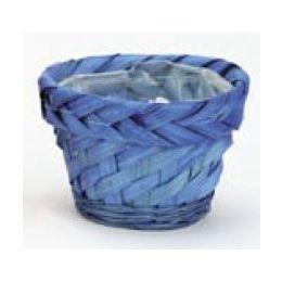 Bambusübertopf, blau, 12x8cm, 1 Stück