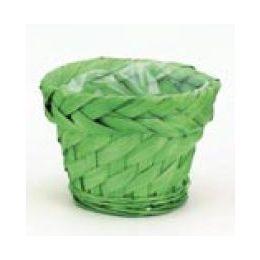 Bambusübertopf, grün, 12x8cm, 1 Stück