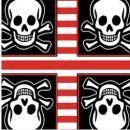 Taschentücher Jolly Roger, 4-lagig, Tissue, 22x21cm,...
