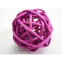 Rattanball , 4cm, llila, 1 Stück