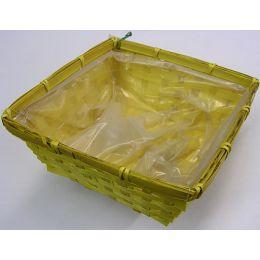Pflanzkorb Bambus, quadrat, 20x20xH9,5cm, gelb, 1 Stück