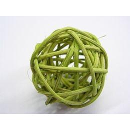 Rattanball , 4cm, grün, 1 Stück