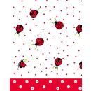Mitteldecke, Ladybirds and dots, 80x80cm, Airlaid, 16x20cm gefaltet, 1 Stück