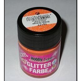 Hobby Line Acryl-Glitterfarbe, orange, 1 Glas 50ml