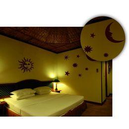 Home Design Wandschablone Sonne,Mond und Strene, 100 x 70cm, 1 Stück