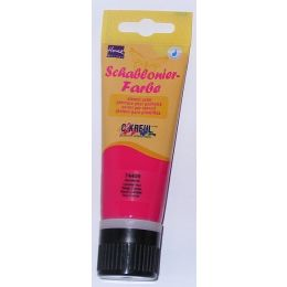 Home Design Schablonierfarbe, 75ml Tube, karminrot, 1 Stück