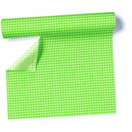Airlaid - Tischtuch Rolle Karo-grün, 0,8 x 10m