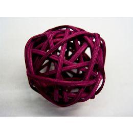 Rattanball , 4cm, bordeaux, 1 Stück