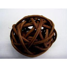 Rattanball , 4cm, braun, 1 Stück