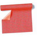 Airlaid - Tischtuch Rolle Karo-rot, 0,8 x 10m