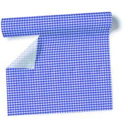 Airlaid - Tischtuch Rolle Karo-blau, 0,8 x 10m
