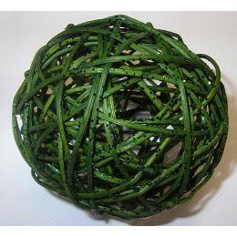 Rattanball , 10cm, Glitter dunkelgrün, 1 Stück