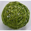 Rattanball , 10cm, Glitter lindgrün, 1 Stück