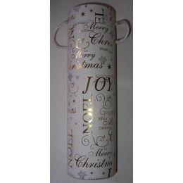 Wein / Flaschenverpackung aus Pappe rund, 8,1cm, weiss, 1 Stück