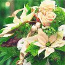 P+ D Serviette, Christmas bouquet, 3 lagig, 33x33cm, 1/4...