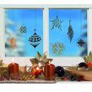 Home Design Window Style Schablone Weihnachtsschmuck A3, 1 Stück