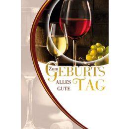 Geburtstagskarte Wein, 1 Stück