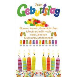 Geburtstagskarte Gummibärchen,1 Stück
