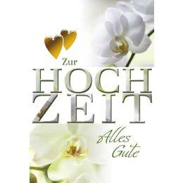Hochzeitskarte Orchidee,1 Stück