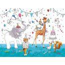 Tischset Party animales 3 lagig 40x30cm, 12 Stück