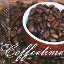 P+ D Serviette, Coffeetime, 3 lagig, 33x33cm, 1/4 Falz
