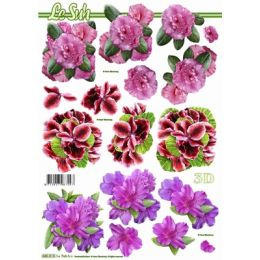 Le Suh Stanzbogen A4 Blumen mix 2, 1 Stück