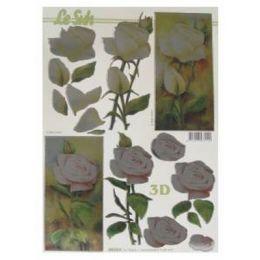 Le Suh Stanzbogen Metallic A4 Rose, 1 Stück