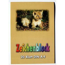 Zeichenblock, 90-100g/m², DIN A4, 20 Blatt, 1Stück