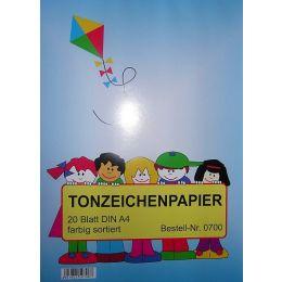 Tonzeichenpapier, DIN A4, 20 Blatt, 1Stück