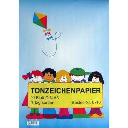 Tonzeichenpapier, DIN A3, 10 Blatt, 1Stück