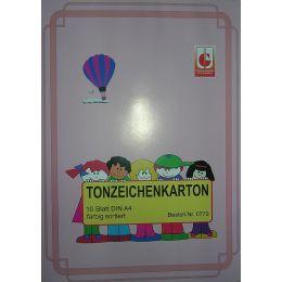 Tonzeichenkarton, DIN A4, 10 Blatt, 1Stück