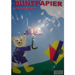 Buntpapier, farbig in Folie, DIN A4, 20 Blatt, 1 Stück