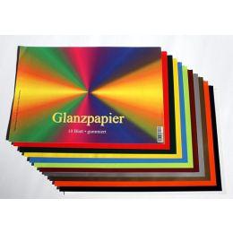 Glanzpapier gummiert, 25x17,5cm,10 Blatt, 1 Stück