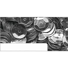 Pailletten im Blister Silber, 6mm, ca.1400 Stück