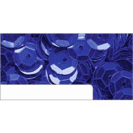 Pailletten im Blister dunkelblau, 6mm, ca.1400 Stück