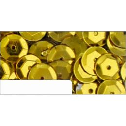 Pailletten im Blister gold, 6mm, ca.1400 Stück
