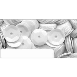 Pailletten im Blister weiß, 6mm, ca.1400 Stück