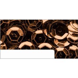Pailletten im Blister braun, 6mm, ca.1400 Stück