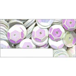 Pailletten im Blister weiß irisierend, 6mm, ca.1400 Stück