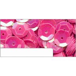 Pailletten im Blister pink irisierend, 6mm, ca.1400 Stück