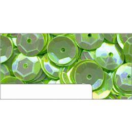Pailletten im Blister grün irisierend, 6mm, ca.1400 Stück